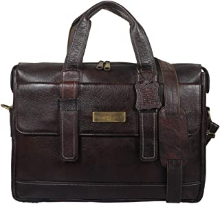 BAG JACK - Natural Grain Leather | Handcrafted | Velorum-I | Adds A Professional Finish | Leather Office Bag for Men | Lap...