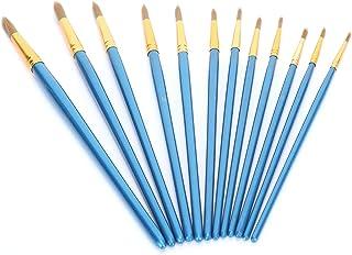 Artist Brushes Set, Children Paint Brush, 12 Different Sizes Easy To Maintain Durable Bristles Aluminum Tube for Professio...