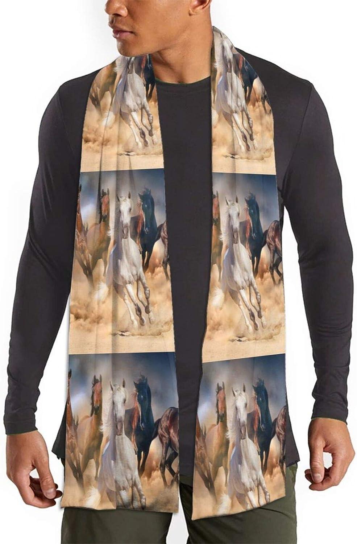 Womens Winter Scarf Desert Sand Storm Wild Horse Wraps Warm Pashmina Shawls Gift Reversible Soft For Girls