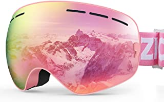 ZIONOR XMINI Kids Ski Snowboard Snow Goggles UV Protection Anti-Fog with Spherical Lens for Kids Boys Girls Youth