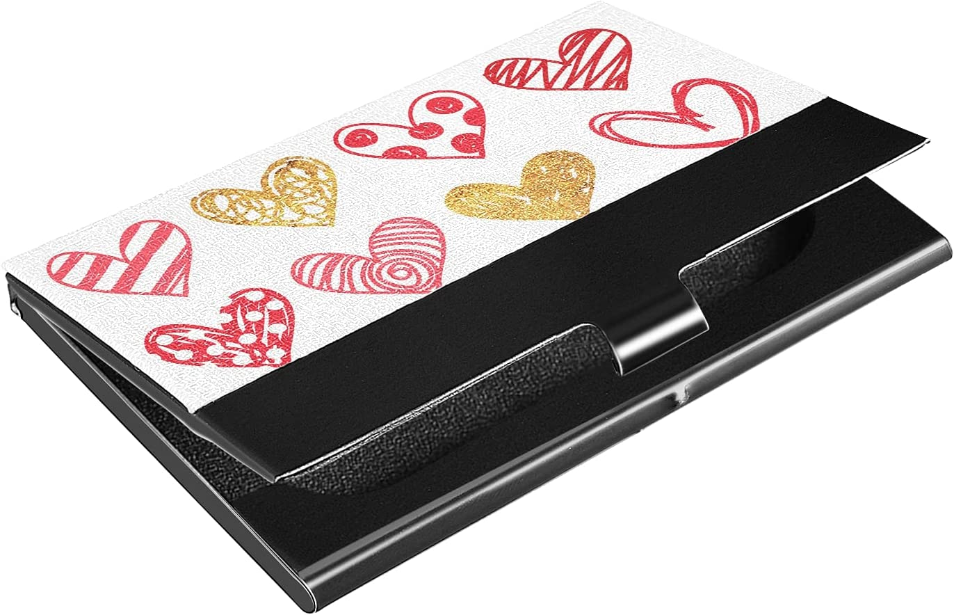 OTVEE Golden Watercolor Heart trust Business Stainl Ranking TOP18 Holder Card Wallet