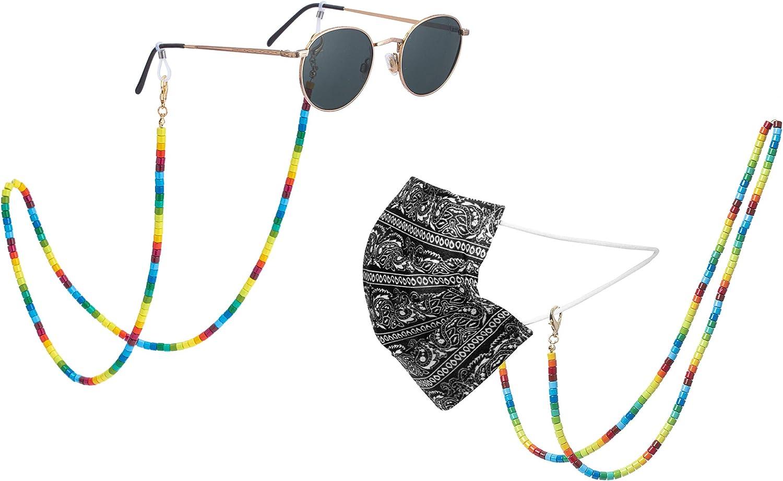 New Colorful Fashion Women's Enamel Louisville-Jefferson County Mall Eyeglass Beads Arlington Mall Chain Tile Su