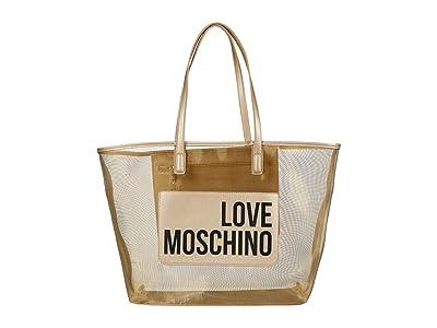 LOVE Moschino Mesh Tote Bag (Gold) Handbags