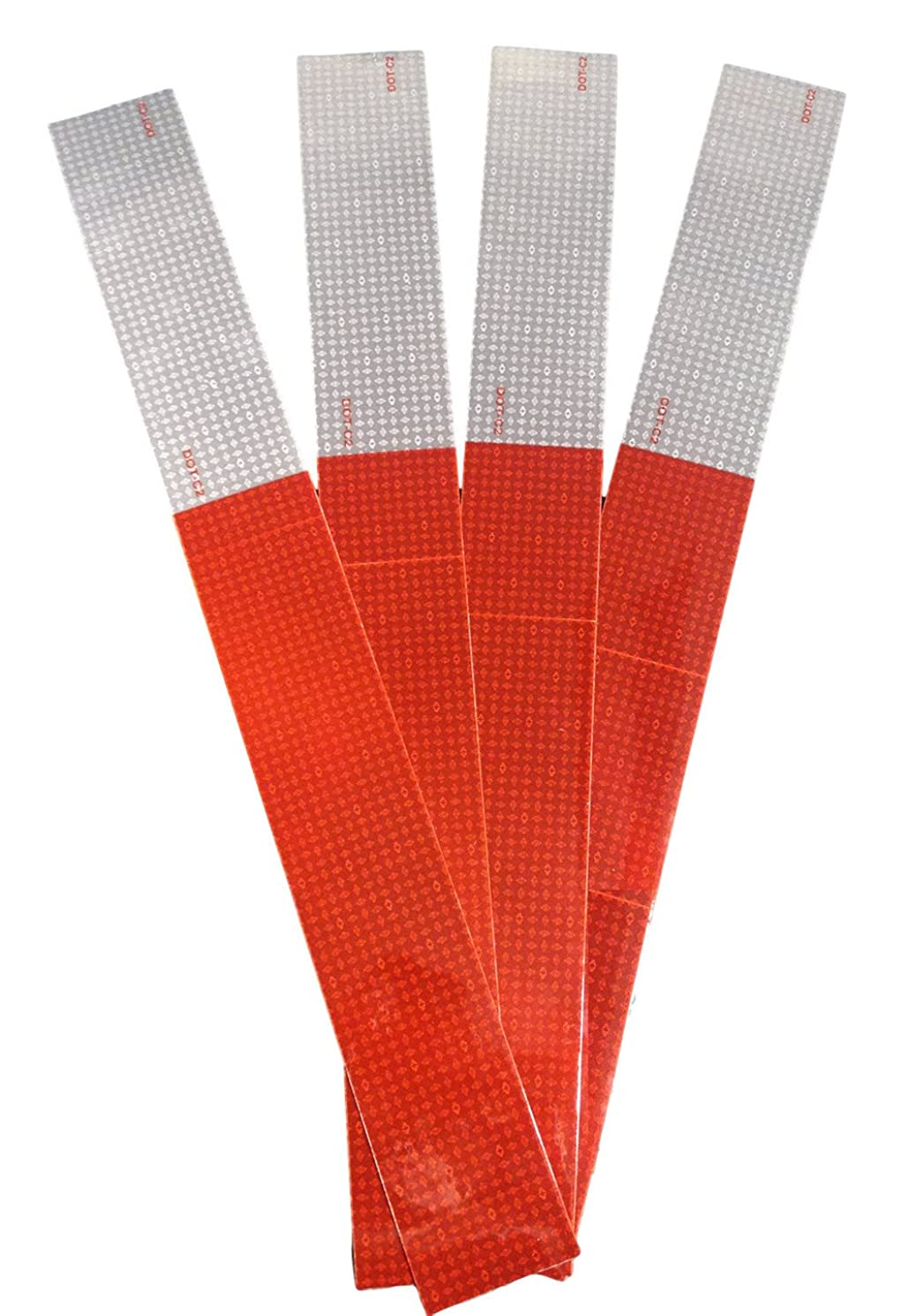 Reflective Tape-Red and White Strips-Premium Quality 8 mil Thickness-2