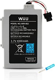 Wii U GamePad Long Lasting Replacement Rechargeable 4000MAh Battery Pack by Button Masher