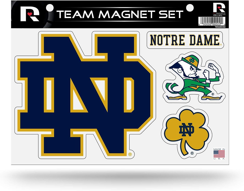 NCAA Notre Dame Fighting Irish Die Cut Team Magnet Set Sheet : Sports & Outdoors