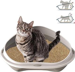 Smartweb Katt katt katt 58 cm x 48 cm x 17 cm kattlåda med anti-smuts kant hörntoalett för stora och små katter