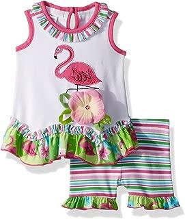 Baby Girls Appliqued Dress and Legging Set