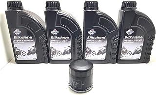 Ölschneider 4 Liter Motoröl SILKOLENE SUPER 4 MOTO 10W40 + Ölfilter