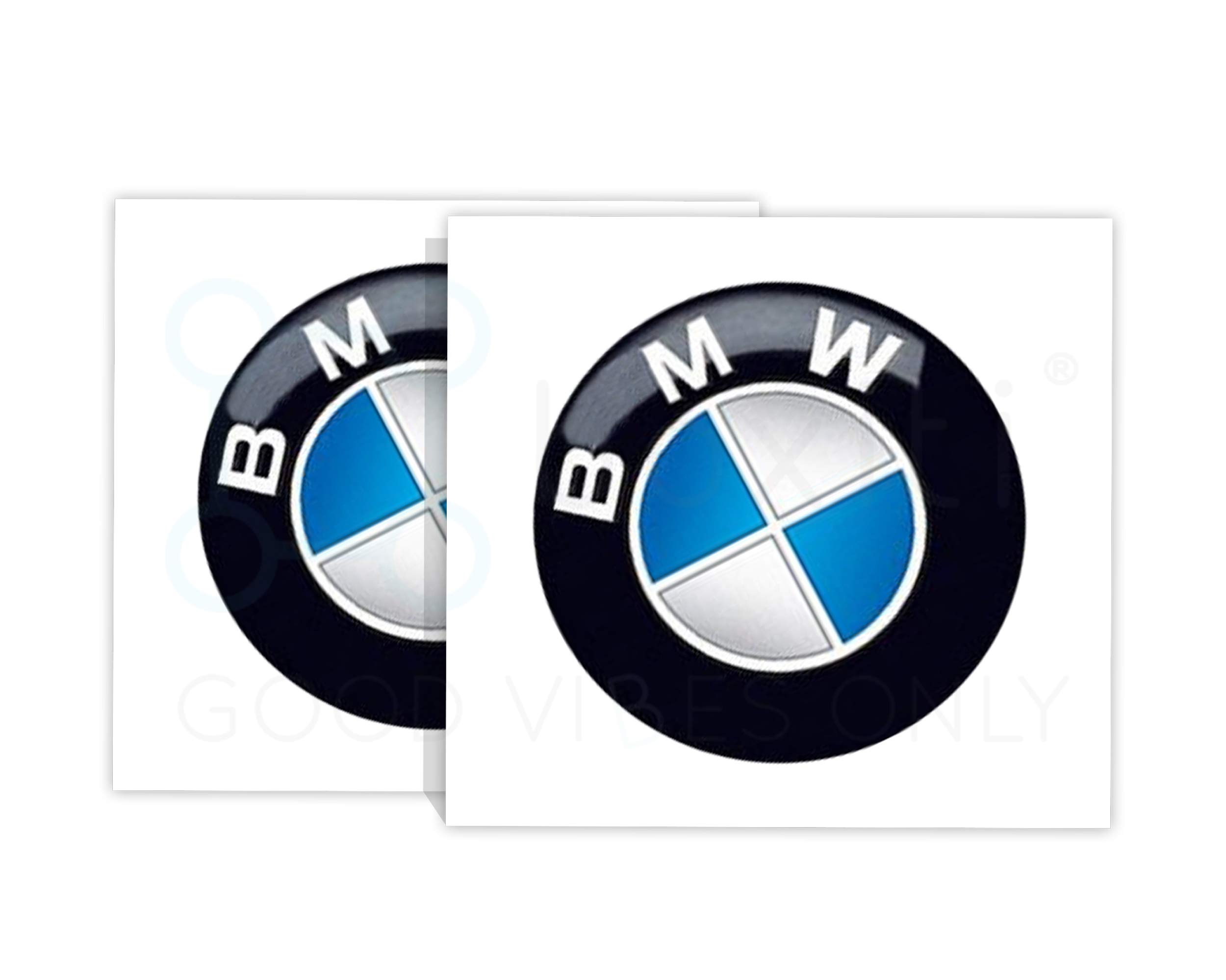 6 PCS for BMW Emblems Decals Stickers 2 PCS 29mm Multimedia Control Badge Sticker 2 PCS 12mm Radio Button Emblem Sticker 2 PCS 11mm Remote Key Emblem Sticker for BMW