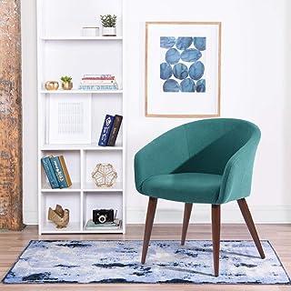 FurnitureR Elegante Silla Decorativa de Tela Sillón Moderno