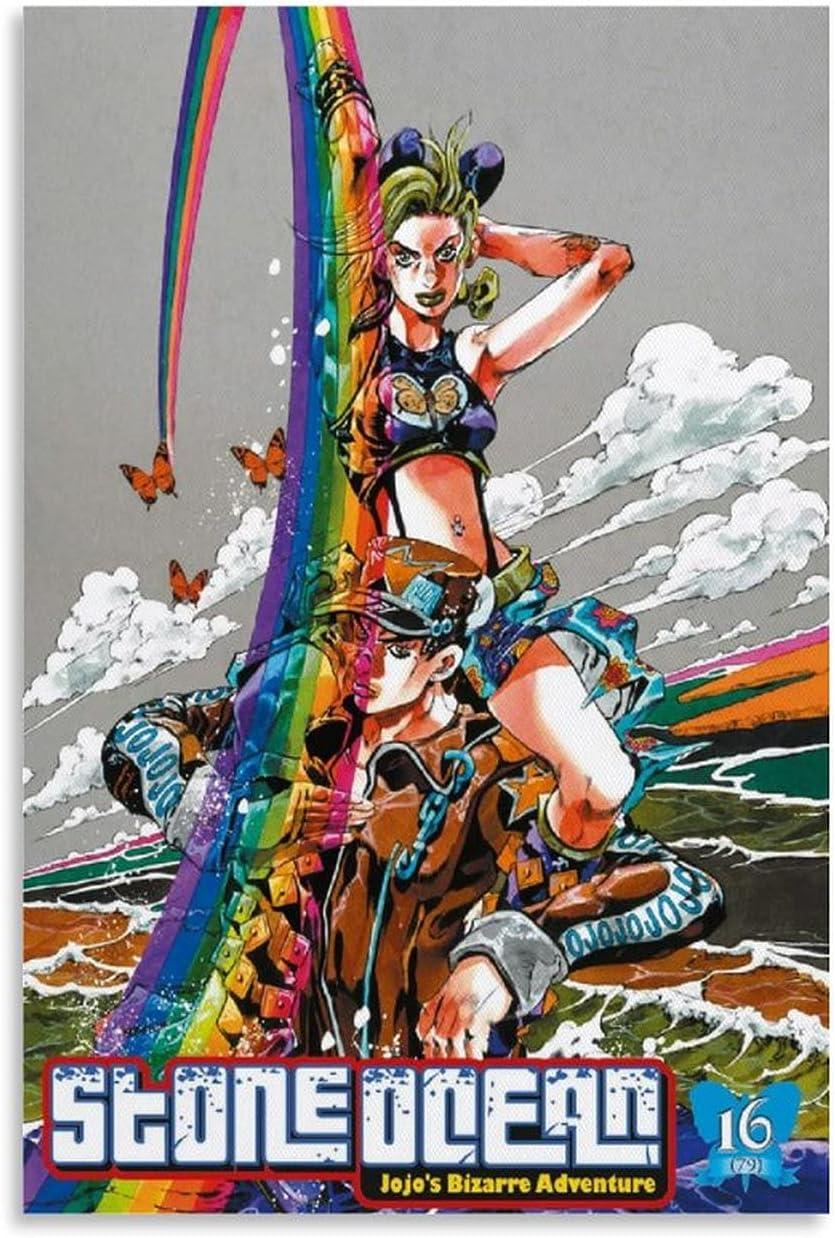 ZHUYI Anime JoJo's Bizarre In stock Adventure Ocean Stone Poster JoJo specialty shop Dec