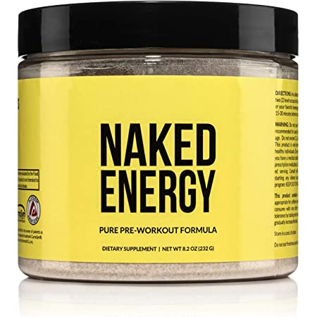 Naked Energy – All Natural Pre Workout Powder for Men and Women, Vegan Friendly, Unflavored, No Added Sweeteners, Colors or Flavors – 50 Servings…