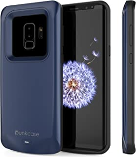 Galaxy S9 Plus Battery Case, PunkJuice 5000mAH Fast Charging Power Bank W/Screen Protector | Integrated USB Port | IntelSwitch | Slim, Secure and Reliable | Suitable for Samsung Galaxy S9+ [Navy]
