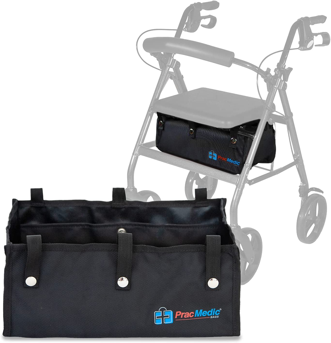 Challenge the lowest price of Japan ☆ Extra Large Under Seat 2021 Rollator Bag Bariat for Basket Folding or