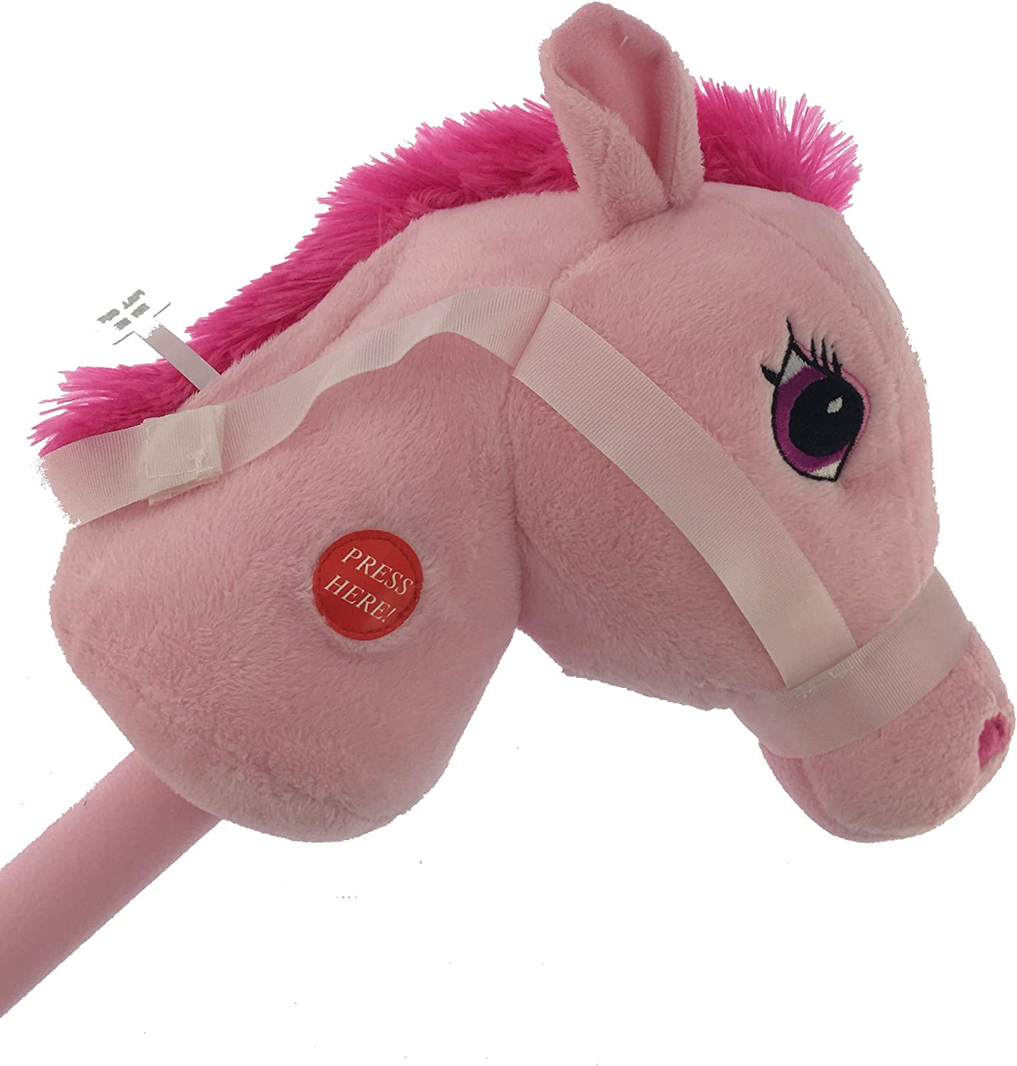 29 Stick Horse Giddy-up and Go Pony w  Real Sound - Pink