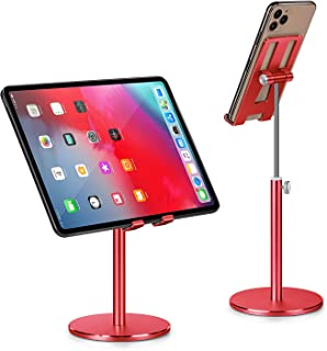 Phone Holder, Tablet Stand, Abetcabe 1 Pack Angle Height Adjustable Cell Phone Holder Tablet Stand for Desk Compatible wit...