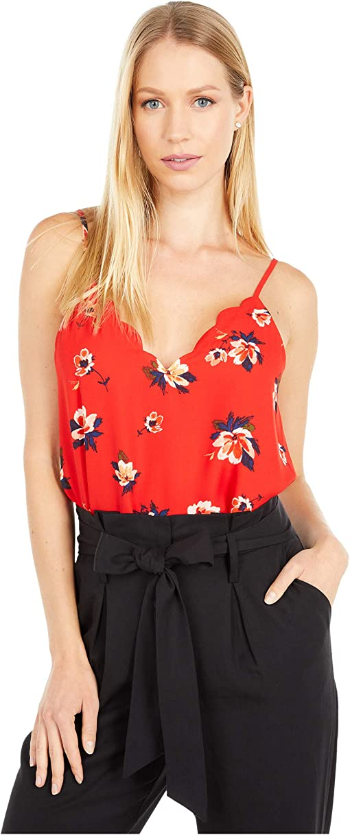 Red/Navy Floral