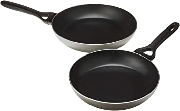 Pyrex PIS01F4/7042 Frying Pans, 24cm/28cm, Grey (2 Piece)