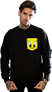 Looney Tunes Men's Tweety Pie Face Sweatshirt
