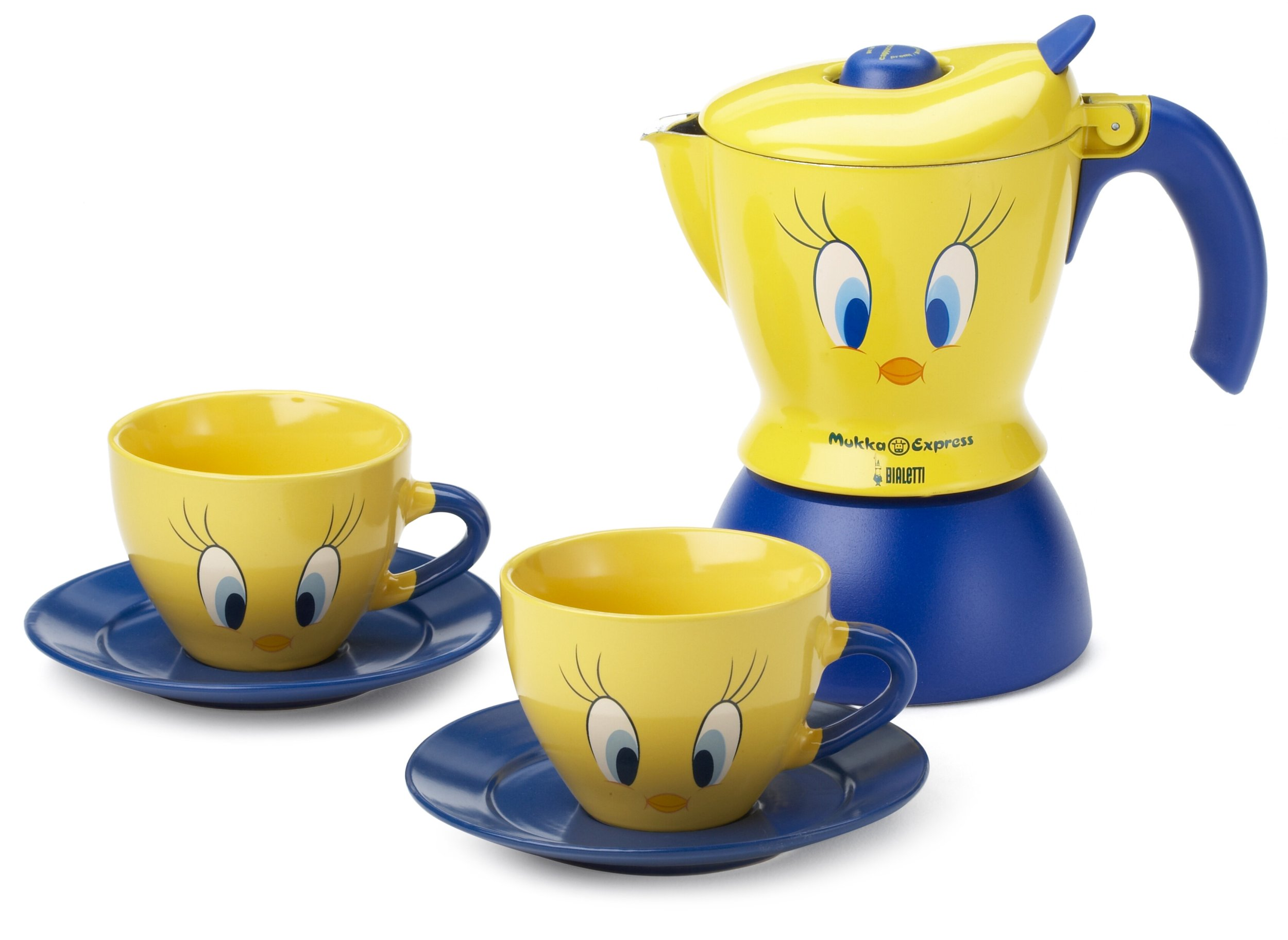 Bialetti Mukka Tweety - Cafetera italiana y juego de café con diseño de Piolín: Amazon.es: Hogar