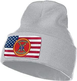 1st Battalion 11th Marine Regiment Men&Women Warm Winter Knit Plain Beanie Hat Skull Cap Acrylic Knit Cuff Hat