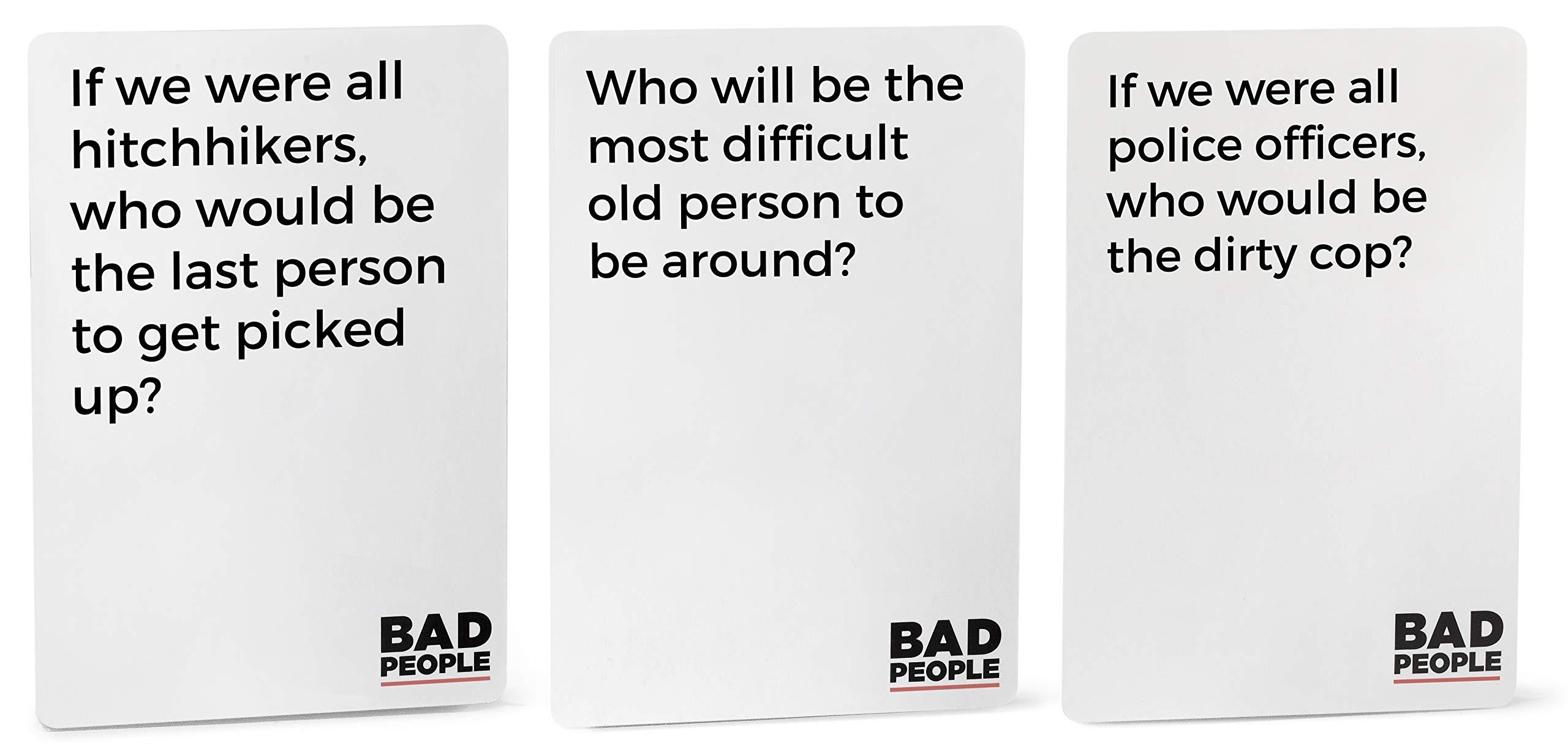 BAD PEOPLE Juego de Fiesta Que Probablemente no deberías Jugar: Amazon.es: Juguetes y juegos