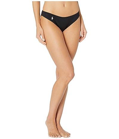 Polo Ralph Lauren Ribbed Modern Solids Rib V-Pant Bottoms (Black) Women