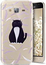 Galaxy J3 Case,Galaxy Sky/J3V/Amp Prime/Express Prime/Sol Case,PHEZEN Amusing Whimsical Design Pattern Ultra-thin Crystal Clear Soft Flexible TPU Bumper Cover For Samsung Galaxy J3 2016 (Feather Cat)