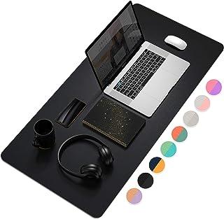 """میز اداری چند منظوره، 35.4 """"x 17"""" YSAGi فوق العاده نازک ضد آب PU چرم ماوس پد، استفاده از دوگانه مکتب نوشتن میز برای دفتر / خانه (35.4 """"X 17""""، سیاه)"""