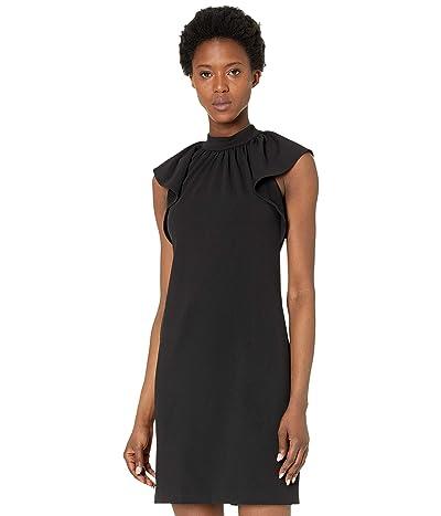Calvin Klein Mock Neck Ruffle Sleeve Sheath Dress Women