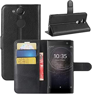 Fettion Sony Xperia XA2 Case, Fettion Premium PU Leather Wallet Flip Phone Protective Case Cover with Card Slots and Magne...