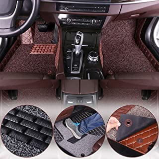 Muchkey Luxury car Floor Mats fit for Audi A5 Convertible 2010-2016 Custom fit Luxury Leather All Weather Protection Floor Liners Full car Floor Mats
