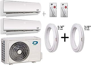 Diloc Frozen Aire Acondicionado MultiSplit Wifi, 4,1 kW Inverter Dual Gas R32 D.FROZEN240 (9000 + 12000 Btu (9+12) + Tubos Cobre Par 1/4