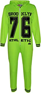 Kids Girls Boys Onesie Brooklyn 76 Athlectic All in One Jumpsuit PJ's 7-13 Years