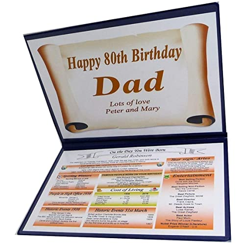 NWM Gifts PERSONALISED 80TH BIRTHDAY GIFT 1939 THE DAY YOU WERE BORN