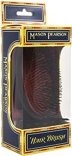 شعيرات الخنزير من ماسون بيرسون، فرشاة شعر متوسطة الحجم بشعيرات عسكرية صغيرة الحجم (أحمر داكن)، قطعة واحدة