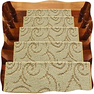 JIAJUAN Stair Carpet Treads Self Adhesive Thick Non Skid Indoor Tread Mats, 4 Styles, 5 Sizes, Customizable (Color : C-1 p...