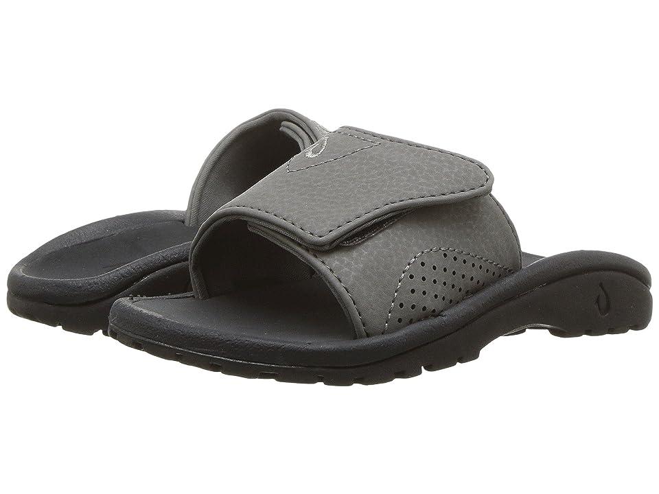 OluKai Kids Nalu Slide (Toddler/Little Kid/Big Kid) (Charcoal/Lava Rock) Boys Shoes