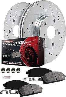 Power Stop K7002 Front & Rear Brake Kit with Drilled/Slotted Brake Rotors and Z23 Evolution Ceramic Brake Pads