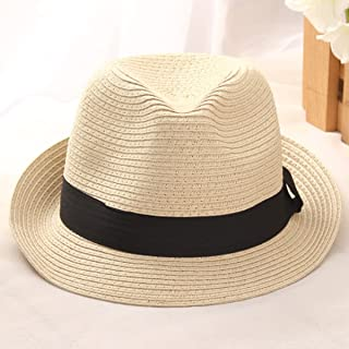 Sun Hat for Women Men s Jazz Panama Soft Cap Feedoras Summer Beach Tropical  Hat 9cba5e487760