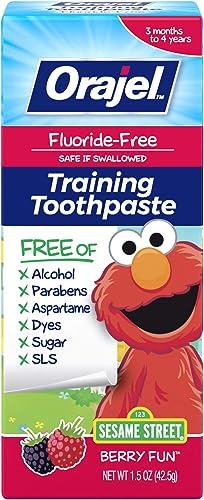 Orajel Elmo Fluoride-Free Training Toothpaste, Berry Fun, One 1.5oz Tube: Orajel #1 Pediatrician Recommended Brand fo...