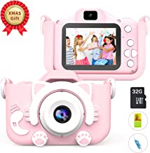MITMOR Kids Digital Cameras for Girls Boys with 32G SD...