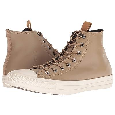 Converse Chuck Taylor All Star Leather Hi (Teak/Black/Driftwood) Slip on Shoes