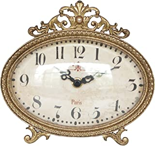 NIKKY HOME Pewter Vintage Table Clock 6.5