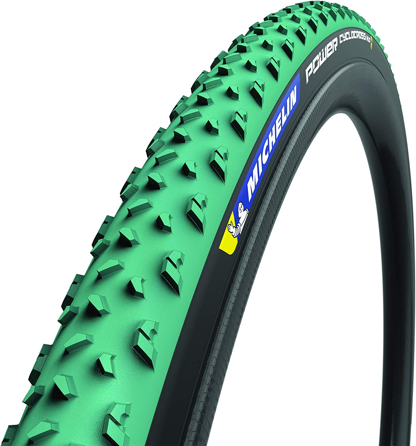 2x MICHELIN TYRES Power Cyclocross Mud Folding 28 inch 700x33C 33-622mm TLR Green