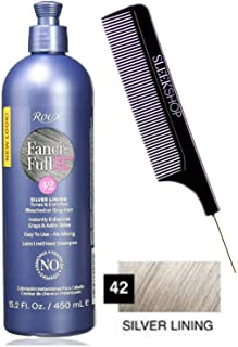 Roux FANCI-FULL Temporary Hair Color RINSE Conditioner Instant Haircolor (w/Sleek Comb) Instantly Blends Grays & Adds Shine, No Mixing, 15.2oz / 450ml (42 Silver Lining)