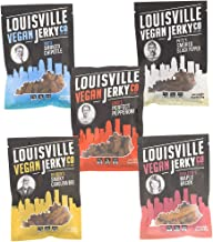 Louisville Vegan Jerky - 5 Flavor Variety Pack, Jerky, 21 Grams of Non-GMO Soy Protein, Gluten-Free Ingredients (Black Pepper, Chipotle, Perfect Pepperoni, Maple Bacon, and Carolina BBQ, 3 Ounces)