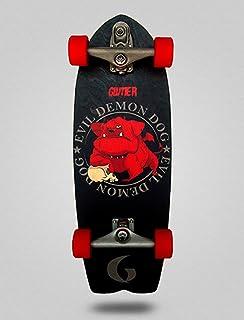 Glutier Surfskate Demon Dog 29 with T12 Surf Skate...