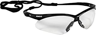 KLEENGUARD Nemesis Safety Glasses (25679), Clear Anti-Fog Lens with Black Frame, 12 Pairs / Case